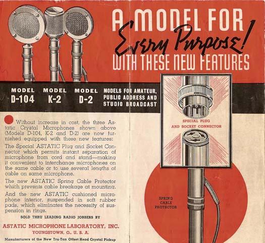 astatic model d 104 vintage mike 39 s. Black Bedroom Furniture Sets. Home Design Ideas